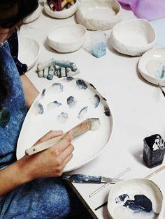 Jiah Jiah at work. Photo – Annette O'Brien for The Design Files.