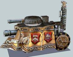 PAPERMAU: Warhammer - Imperial Steam Tank Paper Model - by Monk Taraz