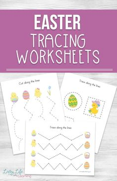 Need to work on your child's pre-writing skills? Try these cute Easter Tracing Worksheets for tracing and cut practice to refine those fine motor skills. A perfect activity for preschoolers who need to get the hang of tracing and scissor skills. Writing Activities For Preschoolers, Easter Activities For Toddlers, Kindergarten Activities, Easter Worksheets, Tracing Worksheets, Easter Printables, April Preschool, Preschool Crafts, Science Crafts