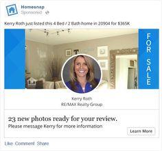 Homesnap Pro Facebook Ads