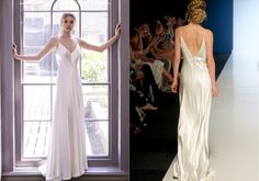 BACK TO RANGE SASHA Sassi Holford 2018 Collection – Sasha. A stunning and simple bias cut satin gown. Wedding dress