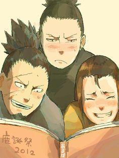 Nara family- shikaku, shikamaru and yoshino