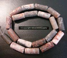 JASPER TUBE beads mauve to gray str (jasper) beads apprx Semi Precious Beads, Mauve, Jasper, Gray, Things To Sell, Fashion, Moda, La Mode, Grey