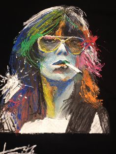 Keith Richards the Rolling Stones' bandleader! I chose to make this super colorful T shirt with my 3d color to better represent the energy of Keith Richards, one of the greatest rock musicians of all