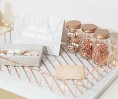 Home office - rose gold love!