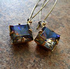 Art Deco-style Kaleidoscope Earrings