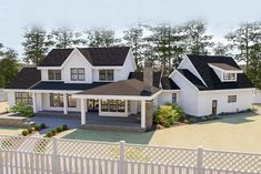 Shrink it a little & its perfect - Plan Beautiful 5 Bed Modern Farmhouse Plan With Angled 2 Car Garage 5 Bedroom House Plans, Dream House Plans, Dream Houses, Log Houses, Dream Bedroom, Modern Farmhouse Plans, Farmhouse Design, Farmhouse Decor, Farmhouse Style