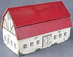 Vintage Wooden Toy Barn/look into this when paid!