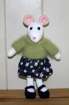 Mouse Hand knitted by Nodnook on Etsy