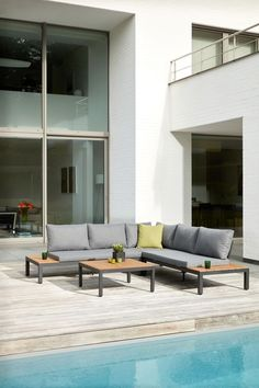 Outdoor Sectional, Sectional Sofa, Lounges, Outdoor Furniture, Outdoor Decor, Aluminium, Sweet Home, Patio, Living Room