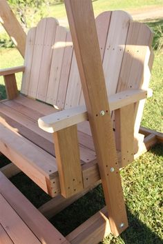 Timestopper Double Seated Swing. Western Red Cedar Timestopper Double Seated Swing will bring you hours of relaxation. Seats 4 adults. All screw and bolt construction.