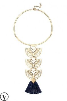 Tulum Tassel Necklace Hand Strung Semi Precious Lapis SD Bold Versatile Layers