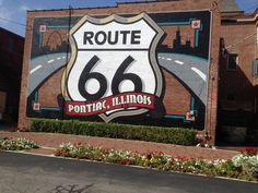 My Route 66 trip, one of many murals at R66 Museum in Pontiac, Illinois