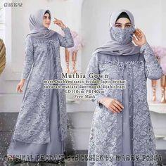 Dress Muslim Modern, Muslim Long Dress, Muslim Evening Dresses, Dress Brokat Muslim, Dress Brokat Modern, Kebaya Muslim, Kebaya Dress, Dress Pesta, Pakistani Fashion Casual