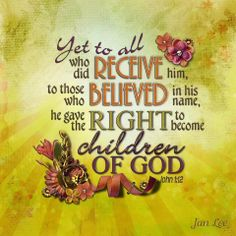 Sons and daughters of King Jesus. John 1:12 | New Life in Christ ...