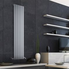 We have a superb range of vertical designer radiators, designed to make the best use of space in your home. Panel Radiators, Vertical Radiators, Modern Radiators, Dad's Kitchen, Kitchen Units, Designer Radiator, Kitchen Colour Schemes, Upstairs Bathrooms, Architecture