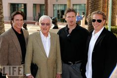 Dick Van Dyke with Son Barry [actor] & grandsons Carey [actor& writer] & Shane [actor]