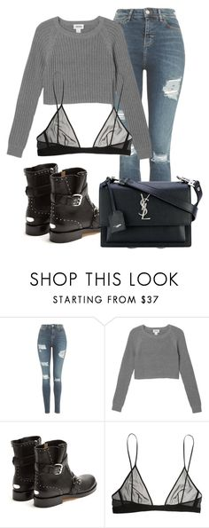 """Untitled #1586"" by beautifultopshop ❤ liked on Polyvore featuring Topshop, Monki, Jimmy Choo and Yves Saint Laurent"