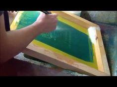 Aprende Serigrafia Casera - Screen printing Home made