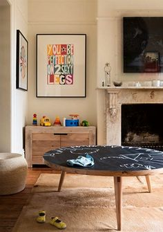 Kid-friendly coffee table idea
