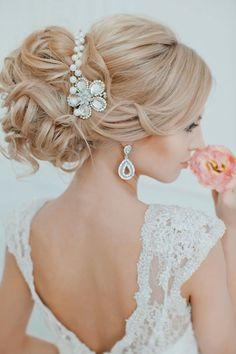 Wedding hair style so beautiful