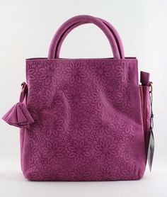 Lederhandtasche in Fuchsia #bags #fashion #turtleNews