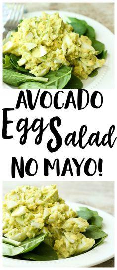 Avocado Egg Salad Recipe   no mayo   lunch recipe   gluten-free recipe   Paleo recipe   Whole30 recipe   low carb recipe