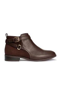 Bottines Jodhpur - Marron foncé - FEMME   H M FR. Chaussures D automne Chaussures ... 911110c19511