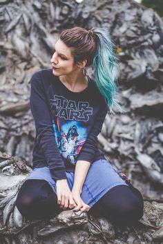 """Junto com a sessão de fotos que eu tirei no Parque do Ibirapuera eu resolvi pegar um look Star Wars para soltar as fotos esta semana por causa do lançamento do filme """"Star Wars - Despertar da Força..."""
