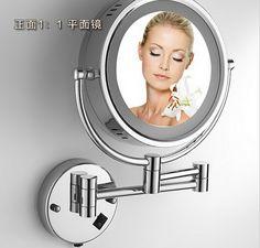 Led bathroom mirror 360 retractable wall mirror Led cosmetic makeup bath mirror double faced led mirror bathroom accessories - http://furniturefromchina.net/?product=led-bathroom-mirror-360-retractable-wall-mirror-led-cosmetic-makeup-bath-mirror-double-faced-led-mirror-bathroom-accessories