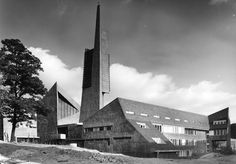 "Church ""Paul Gerhardt"" (1958-64) in Berlin, Germany, by Fehling + Gogel"