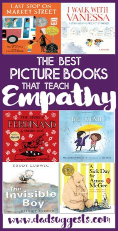 Discover the best picture books to teach empathy to your kids. Kindness and understanding are so important - and the magic of picture books is the perfect way to convey these messages to your kids. #empathy #kindness #kidsbooks #empathyforkids #picturebooks #booksthatteach #lessonideas #dadsuggests Social Emotional Learning, Social Skills, Read Aloud Books, Good Books, Best Toddler Books, Best History Books, Teaching Empathy, Book Lists, Reading Lists