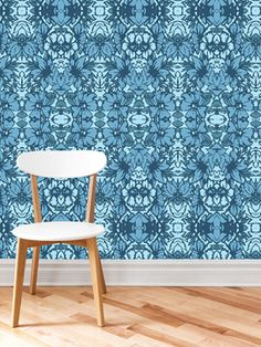 Floral Ikat Wallpaper from Wallpaper
