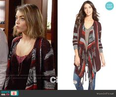 Haley's striped oversized cardigan on Modern Family. Outfit Details: http://wornontv.net/54849/ #ModernFamily