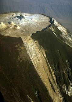 Ol Doinyo Lengai, Tanzania. The only active carbonatite volcano in the world. Its lava erupts at only 500 degrees C.