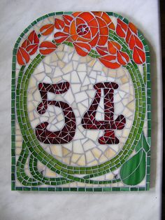 House number 54 - just right after grouting, still wet | Flickr - Photo Sharing!
