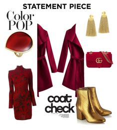 Designer Clothes, Shoes & Bags for Women Check Coat, Red Lips, Balmain, Color Pop, Gucci, Polyvore, Stuff To Buy, Shopping, Collection