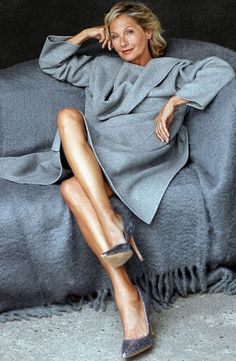 Farb- und Stilberatung mit www.farben-reich.com # Wookie Mayer (age 60) fashion model, actress, psychologist