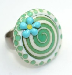 tolle Farbzusammenstellung Glass Ring, Glass Jewelry, Glass Beads, Polymer Clay Beads, Lampwork Beads, Uv Resin, Beaded Rings, Colored Glass, Fused Glass