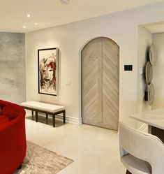 Beautiful Interior Design, Beautiful Interiors, Oversized Mirror, Divider, Design Ideas, Room, Furniture, Home Decor, Bedroom