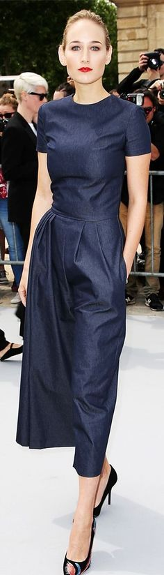 Leelee Sobieski in Christian Dior denim