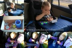 The Fun Cheap or Free Queen: Road trip survival tips and TONS of clever ideas for entertaining young kids in the car. Plus, tips for planning your trip, organizing your car, etc.