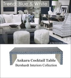 TREND #4: GLOBAL & HISTORICALLY INFLUENCED BLUE AND WHITE HOME DECOR COLOR COMBINATIONS