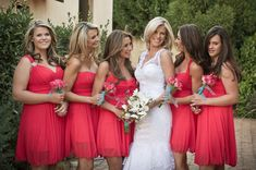 This is the color watermelon that I want my bridesmaids to wear :)