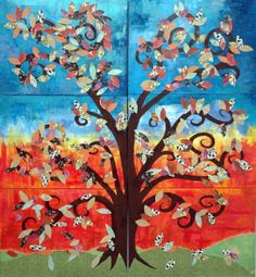 Artwork by SCEI Students with #specialneeds, Acrylic Paint and Paper Collage Group work  www.fb.com/sunflowersbyscei