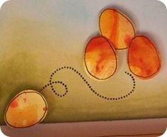Happy Easter bookscrapping card {detail} / Cartoncino bookscrapping di auguri di Pasqua {dettaglio}