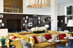 Lobby Seating Area by Martin Brudnizki Design Studio | Soho Beach House
