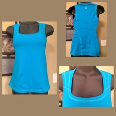 Lululemon Beautiful Blue contrasting stitched Tank Excellent condition no flaws or pills. Beautiful bright color. lululemon athletica Tops Tank Tops
