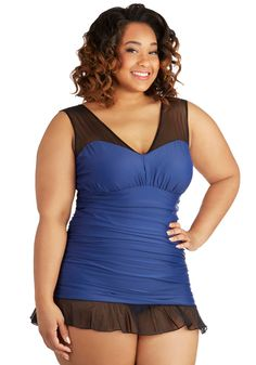 Seaside Sass One Piece in Plus Size, #ModCloth