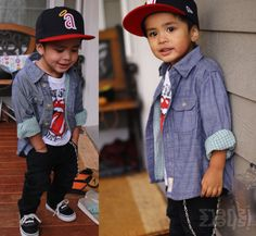 baby swag. i can so see mark dressing our child up like this. except with a hurley hat instead.
